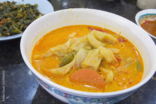 Nonya Sayur Lodeh Vegetable Soup Dish