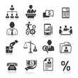 Business icons, management and human resources set3. vector eps