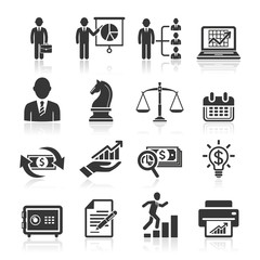 Business icons, management and human resources set2. vector eps