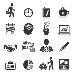Business icons, management and human resources set4. vector eps