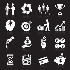 Business icons, management and human resources set6. vector eps