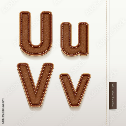 Alphabet Leather Skin Texture. vector illustration.