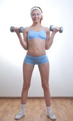 Beautiful athlete woman