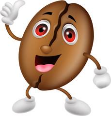 Coffee bean cartoon character