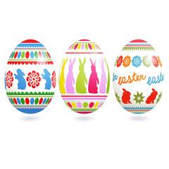 Traditional ornate easter eggs