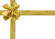 rubans dorés pour décoration emballage cadeau