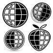 Globe logo set