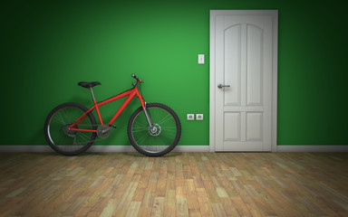 Bicycle in room