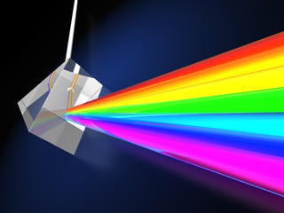 prism with light spectrum