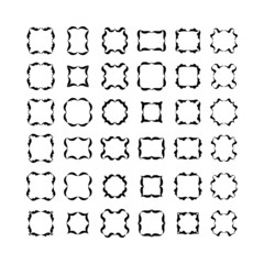 Set of black frameworks isolated on white background. Set 2.
