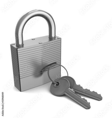 lock with keys