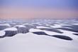 wind and snow over frozen Ijsselmeer, Netherlands
