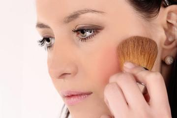 Beautiful Face Makeup close-up.