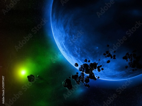 Planets, stars, and space debris
