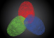 RGB - Red, Green, Blue fingerprint / thumbprint