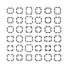 Set of black frameworks isolated on white background. Set 3.