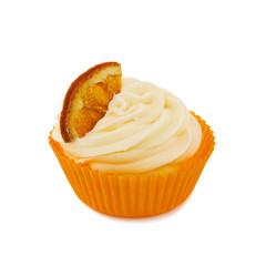 Cupcake mit Orangenstück