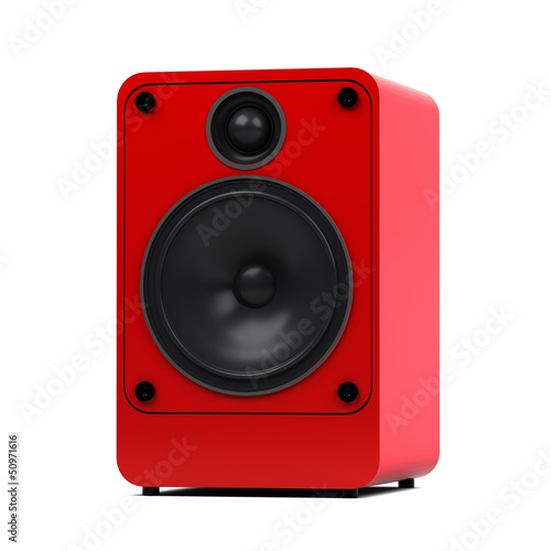 Modern audio speaker - isolated on white background