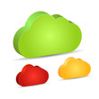 Vector 3d clouds set