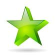 Green glass star, vector illustration