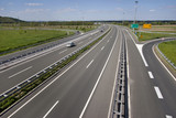 Highway near town Varazdin in Croatia