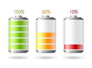 Vector batteries icon