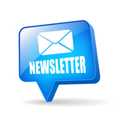 Vector newsletter glossy icon