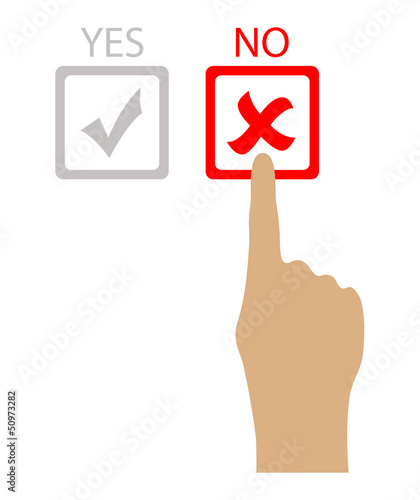 Say no, vector illustration