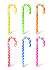 Colorful candy canes