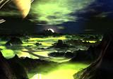 Fototapety Lime Green Alien Landscape