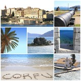 Photo collage of Corfu island, Greece