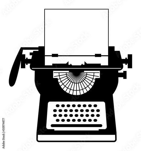Vintage typewriter, vector illustration