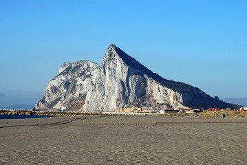 Rock of Gibraltar and beach © Arena Photo UK