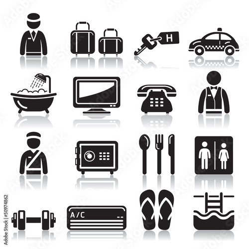 Hotel icons set2. vector eps 10