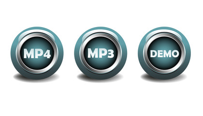 MP4, MP3 and demo buttons