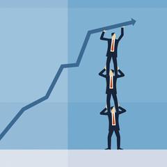 Business - Erfolg - Teamwork - Zusammenarbeit / Illustration