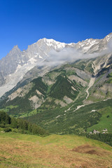 Valle d'Aosta - Ferret valley and mont Blanc