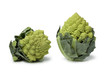 Two mini Romanesco cabbages