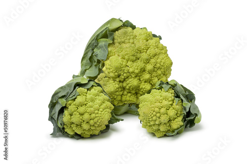 Large and mini Romanesco cabbages