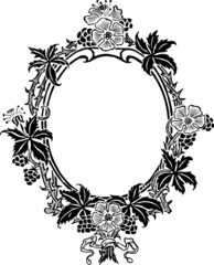 floral ancient frame
