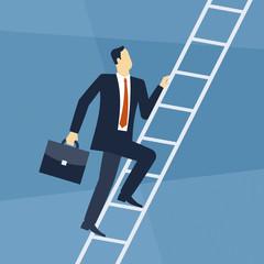 Business - Erfolg - Aufsteigen - Leiter / Illustration