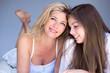 mère et fille beauté matin