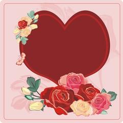 heart roses