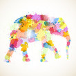 Vector Illustration of an Abstract Elephant