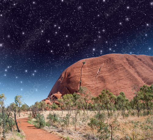 Wonderful Starry Night in Australian Outback
