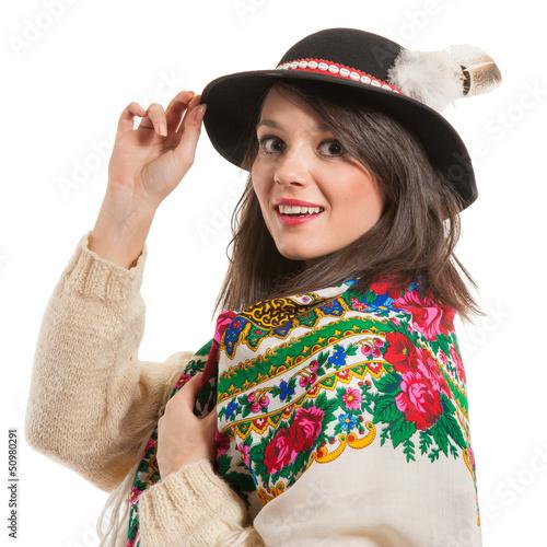 Góralka w kapeluszu
