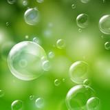 Vector Illustration of Shiny Bubbles
