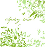 Fototapety Green floral background