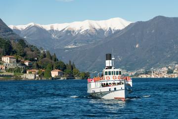 landscape of Cernobbio on Como lake, Italy