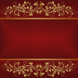 red background with golden ornaments